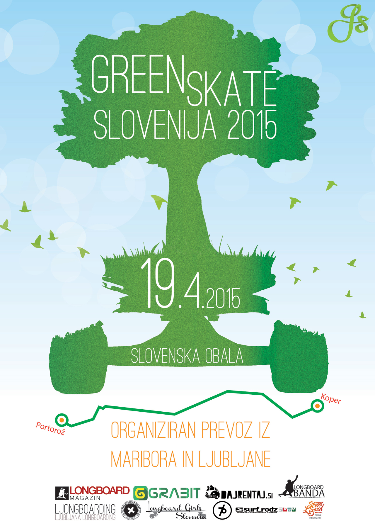 GreenSkate Slovenija 2015 flyer